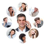 Illustration about business communication - stock illustration