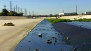 Stock Video Footage of Treated Sewage Entering San Gabriel River 1