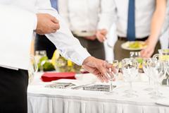 Liiketoiminnan catering lasit yhtiö juhla Kuvituskuvat