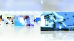 Montage Images Scientific Researchers and CG Graphics - stock footage