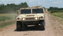 Hummvee driving 7PR Stock Footage
