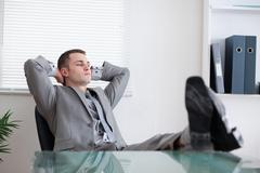 Stock Photo of Businessman taking a rest