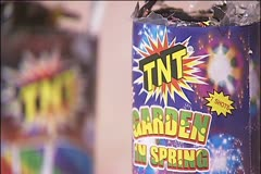 Fireworks trash 1 Stock Footage