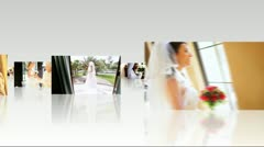 Montage Collection Multi Ethnic Brides Wedding Day - stock footage