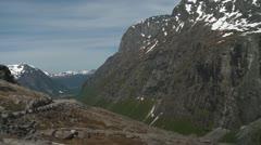 Trollstigen norway Stock Footage