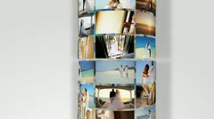 Montage Images Home Beach Wedding Day Scenes Stock Footage