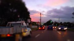 Driving in traffic - Stop motion / Tilt Shift - stock footage