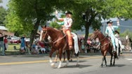 Stock Video Footage of Parade rural community royalty girls on horses P HD 1201