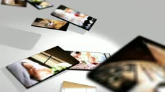Montage 3D Images Brides and Family Wedding Day - stock footage