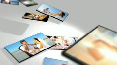 Montage Images Caucasian Couple Wedding and Honeymoon - stock footage