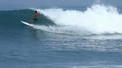 Surfing with turns Stock Footage
