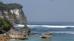 Uluwatu shore timelapse Stock Footage