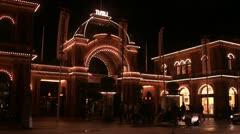 Tivoli in the night, Copenhagen Stock Footage