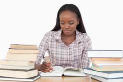 Young woman enjoying a novel Stock Photos