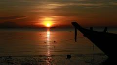 Sunset with Long-beaked Bird - stock footage