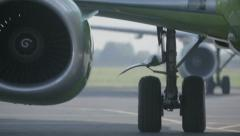 Towing aircraft on the platform 2 Stock Footage