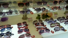 Sunglasses at the mall. Stock Footage