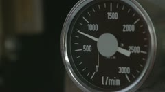 Speed Counter liters of fuel for aircraft Stock Footage