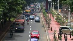 10705 indonesia jakarta city traffic wide real time - stock footage