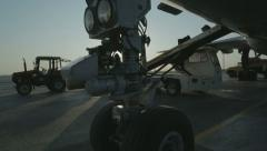 Loading baggage in the plane Stock Footage
