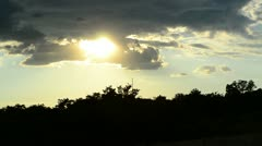Rays of the sun penetrate through the clouds Stock Footage