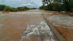 Desert Wash Overflows Stock Footage