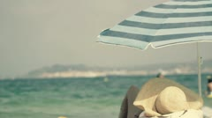Sombrero playa niza Stock Footage