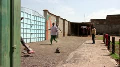Orphans Playing Football or Soccer in an Orphanage in Kenya, Africa. Stock Footage