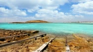 Stock Video Footage of Balearic formentera island Illetes Illetas beach with turquoise sea