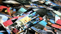 Montage 3D Images Architect Clients on Site  Stock Footage