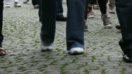 People walking (feet view) 2 Stock Footage