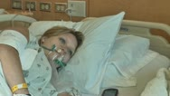 Stock Video Footage of patient in hospital oxygen mask