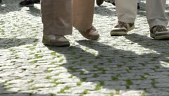 People walking (feet view) Stock Footage