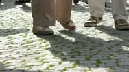 People walking (feet view) Stock Footage