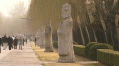 Ming tombs in Beijing - stock footage