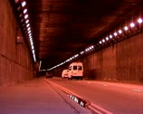 Cars tunnel Stock Footage