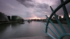 Tower Bridge - London Sunset Timelapse - stock footage