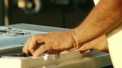 Electric piano, 3 clips Stock Footage