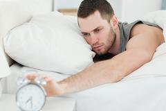 Man waking up Stock Photos