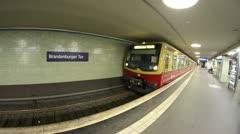 Berlin UBahn - stock footage