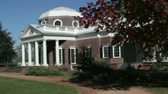 Monticello House in Charlottesville Stock Footage