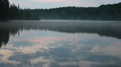 Canadian lake, early morning Stock Footage