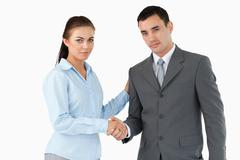 Business partners closing a deal - stock photo