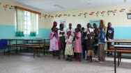 Orphans Sing a Song of Celebration in an African Orphanage in Kenya, Africa. Stock Footage