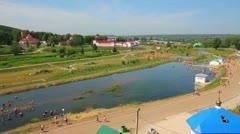 Spa resort Krasnousolsk in Russia Stock Footage