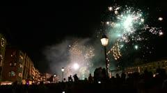 Pisa Luminaria Fireworks 3 Stock Footage
