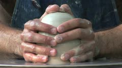 Potters Closeup Long Play Stock Footage