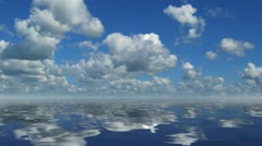landscape with sea and timelapse clouds - stock footage