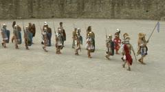Roman gaul arena 02 Stock Footage