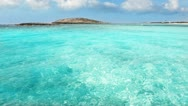 Stock Video Footage of Balearic formentera island Illetes Illetas beach with turquoise paradise water